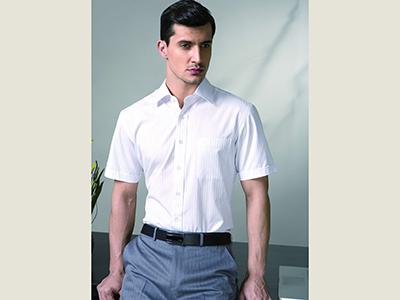农村商业银行男短袖衬衫